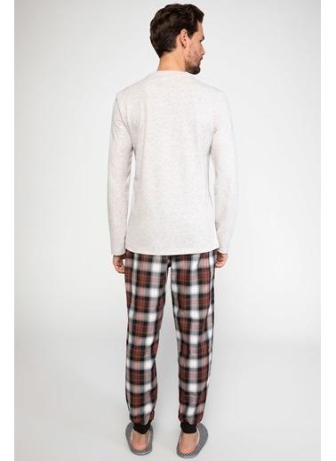 DeFacto Pijama Takımı Bej